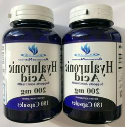 2 X Hyaluronic Acid 200mg 360 Capsules Joint Health Support