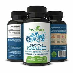 Advanced Collagen Supplement, Type 1, 2 and 3 with Hyaluroni