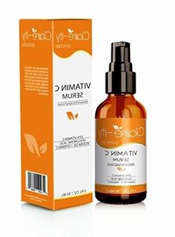Claire-ity 25% Vitamin C Serum with Hyaluronic Acid and Vita