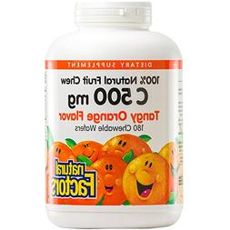 Natural Fruit Chews Vitamin C Tangy Orange 500 mg Tangy Oran