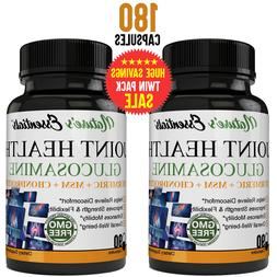 Glucosamine Chondroitin, MSM & Turmeric Dietary Supplement -