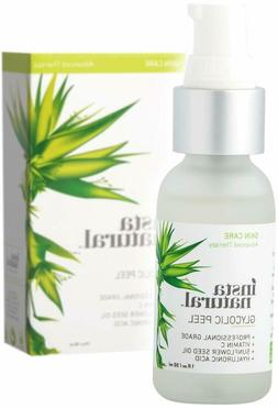 Glycolic Acid Facial Peel 30% - With Vitamin C, Hyaluronic A