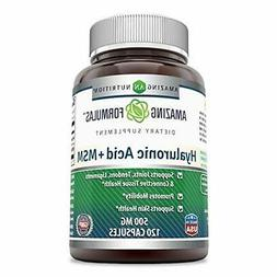 Amazing Nutrition Hyaluronic Acid & MSM Dietary Supplement -