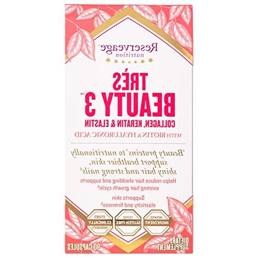 Reserveage - 3 Elastin, Beauty from Inside 90 vegetarian capsules