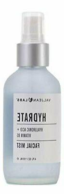Valjean Labs Face Mist - Hydrate, Hyaluronic Acid and Vtamin