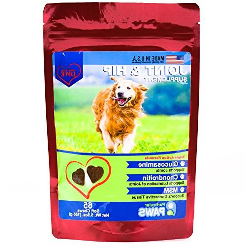 Glucosamine for Treats - Joint Hip Formula Chondroitin and Hyaluronic - 65 Soft
