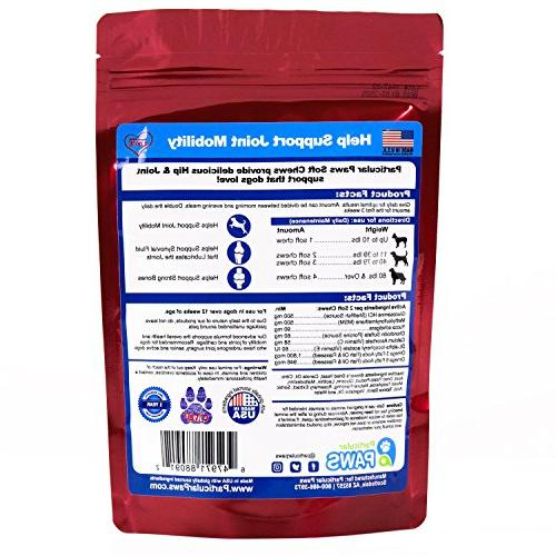 Glucosamine Dogs - Treats Joint Hip Chondroitin Hyaluronic - 65 Soft Chews