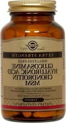 Glucosamine Hyaluronic Acid Chondroitin MSM  Solgar 120 Tabs
