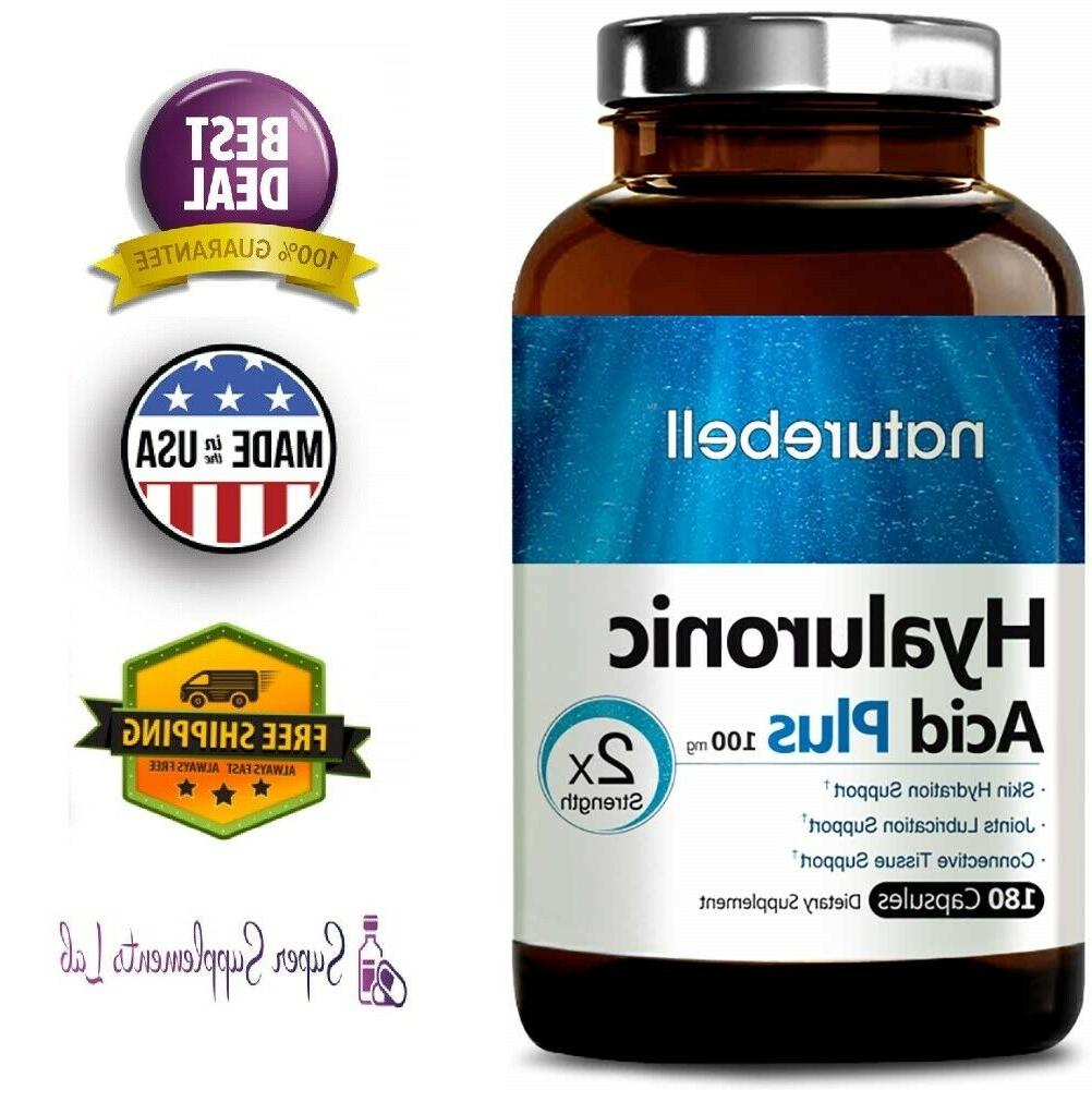 HYALURONIC ACID 100 mg 180 Capsules Supports Joint & Skin Hy