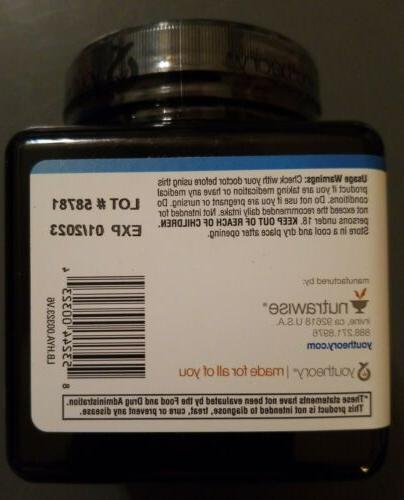 Youtheory Hyaluronic Vegetarian Capsules. Sealed