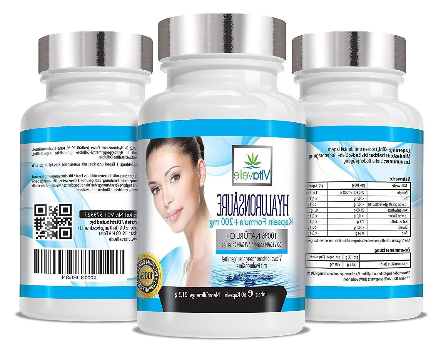 Hyaluronic dosed Supplements for Skin