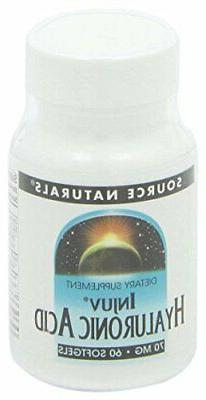 Source Naturals Hyaluronic Acid Injuv 70mg - 60 Capsules