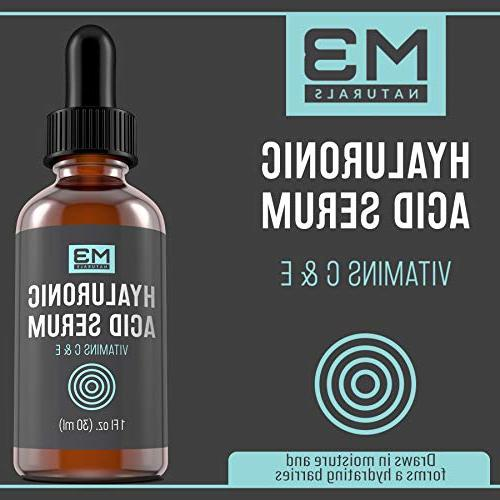 M3 Naturals Acid Serum Topical Facial Natural Skin Care Aging Fine Lines 1 FL OZ