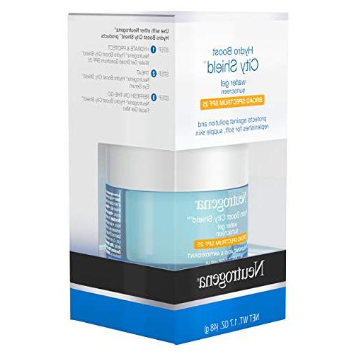 Neutrogena Boost Shield With Hydrating Acid, Antioxidants, and Broad Spectrum 25 Oil-free, Non-comedogenic, Oz