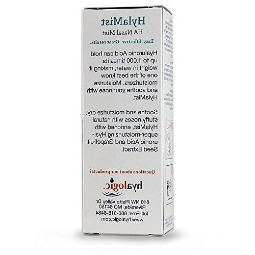 Hyalogic Acid Soothes Dry Nose - Moisturizes Nose - Contains Seed Extract With 2