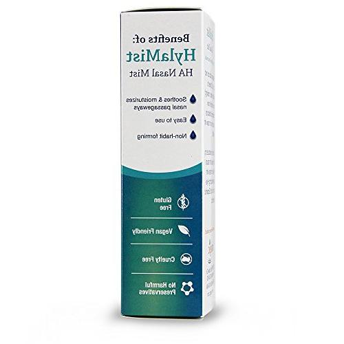 Hyalogic HylaMist - Acid Soothes Dry Nose Moisturizes Stuffy Nose With Antioxidant Properties 2