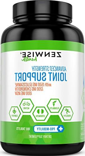 Joint Supplement - With Glucosamine, 1200mg Chondroitin, MSM Hyaluronic Acid for Ad
