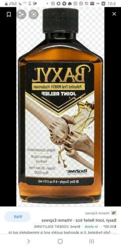 Baxyl - Liquid Hyaluronic Acid for Joint Relief  Vegan, 6oz.