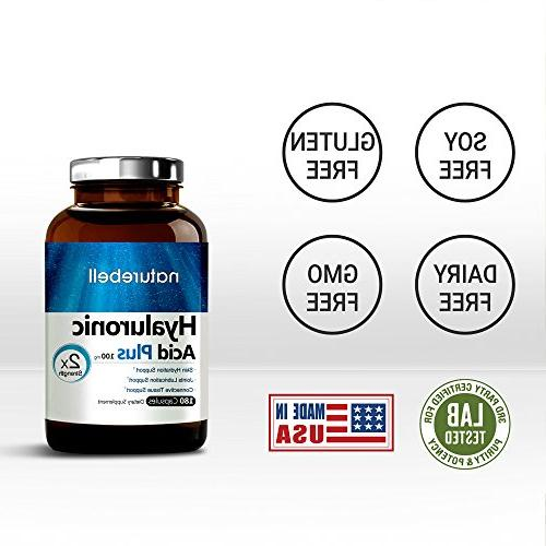 Maximum Hyaluronic Acid, 100mg,180 Capsules, Powerfully Supports Skin Hydration Lubrication. Non-GMO, Gluten Free in