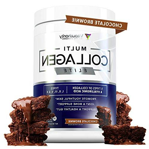Anti Aging Super Powder | and Hydrolyzed Protein Peptides from Chicken, Types II III V Chocolate