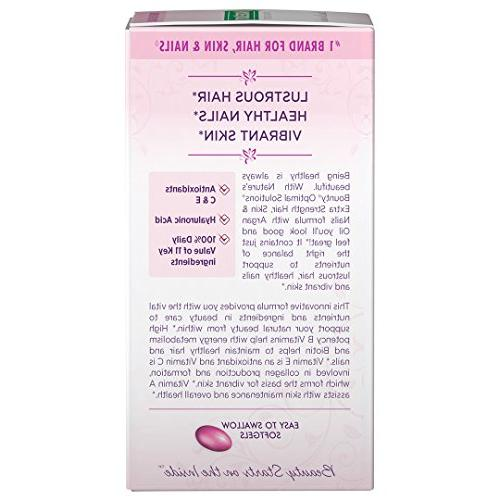 Nature's Optimal Hair Skin Nails Extra Multivitamin Supplement, with Antioxidants