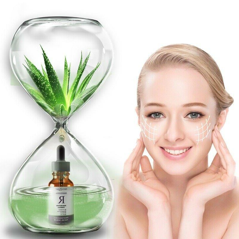dermaXgen® PURE + HYALURONIC ALOE VERA- FACIAL WRINKLE SERUM