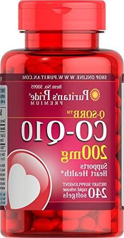 Puritans Pride Q-SORB Co Q-10 200 mg-240 Rapid Release Softg
