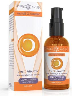 Nuva Skin Vitamin C Serum for Face and Eyes w/Hyaluronic Aci